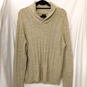 Men's J. Crew leather elbow patch sweater NWT